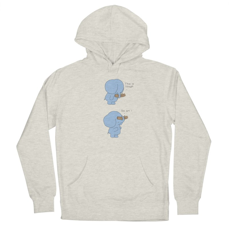 Tough Women's French Terry Pullover Hoody by Jangandfox's Artist Shop