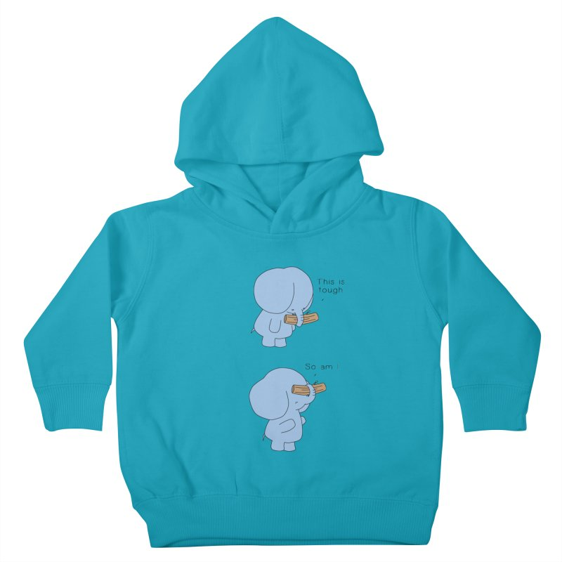 Tough Kids Toddler Pullover Hoody by Jangandfox's Artist Shop