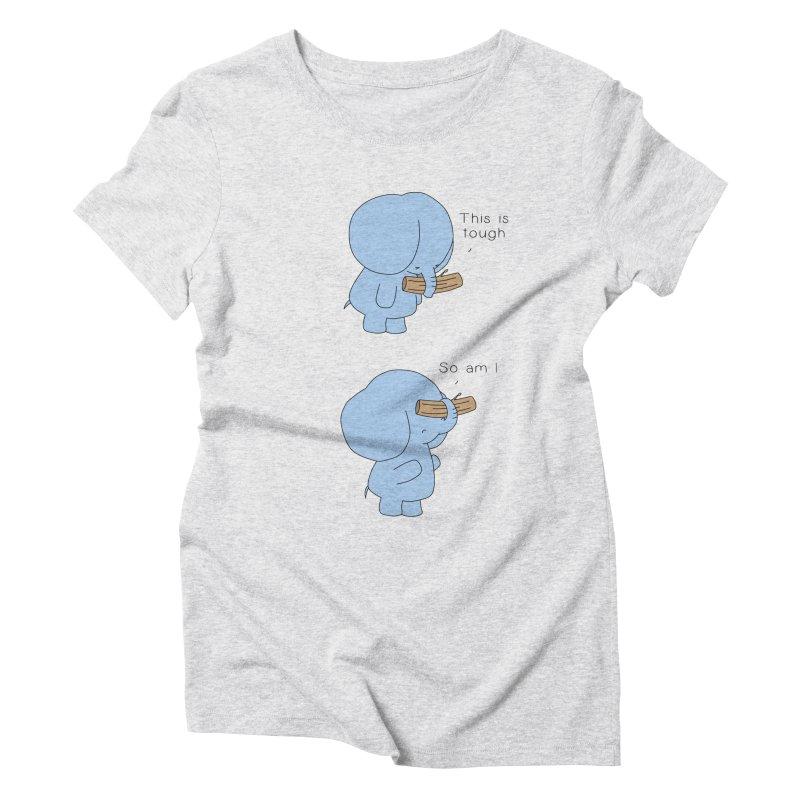 Tough Women's Triblend T-Shirt by Jangandfox's Artist Shop