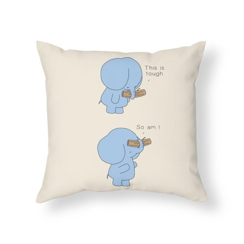 Tough Home Throw Pillow by Jangandfox's Artist Shop