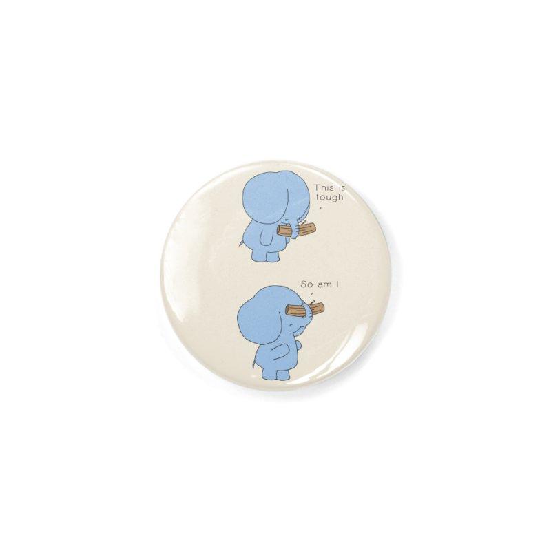 Tough Accessories Button by Jangandfox's Artist Shop