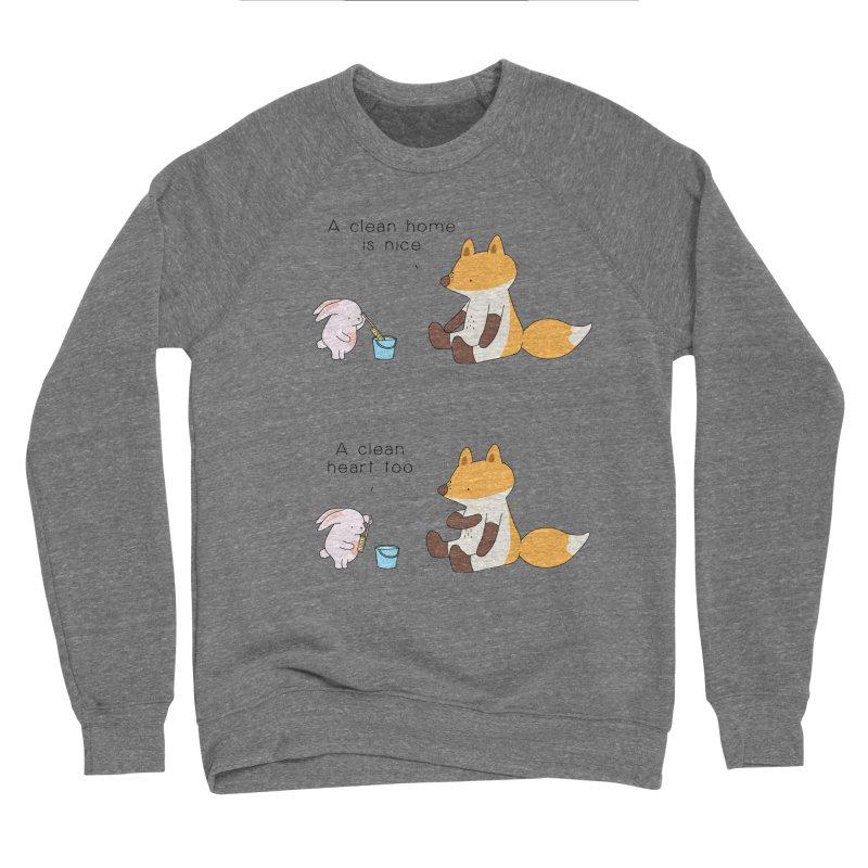 Keep it in the right place Men's Sponge Fleece Sweatshirt by Jangandfox's Artist Shop