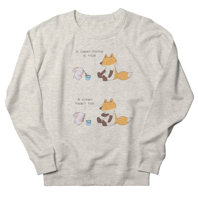 Keep it in the right place Women's French Terry Sweatshirt by Jangandfox's Artist Shop
