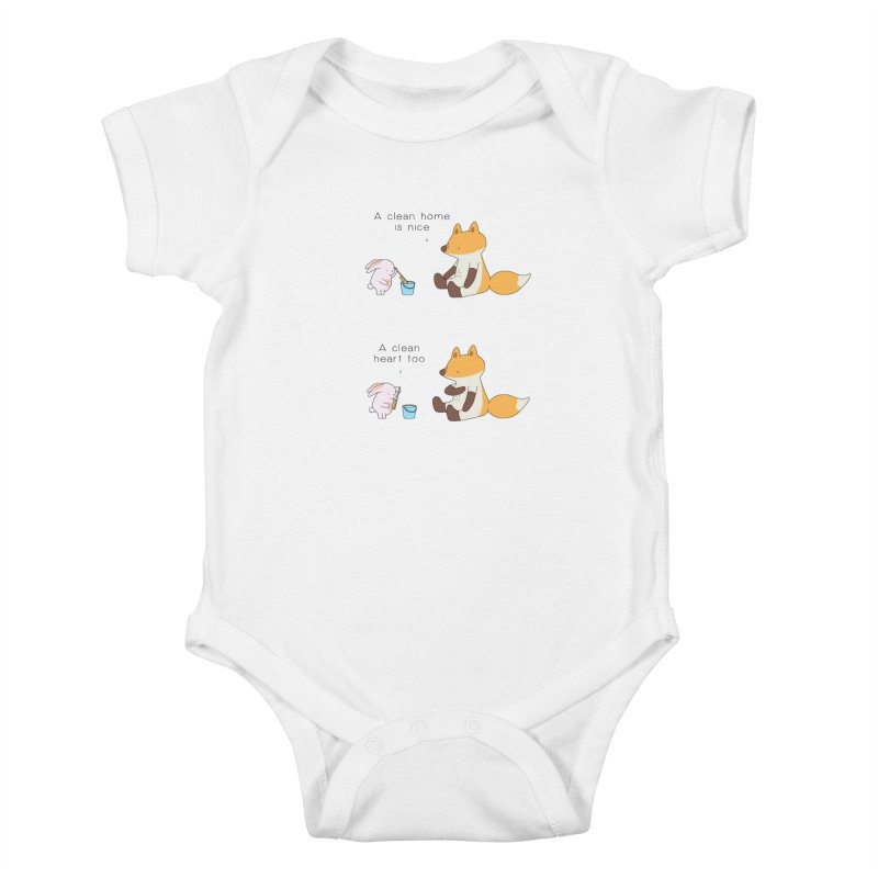 Keep it in the right place Kids Baby Bodysuit by Jangandfox's Artist Shop
