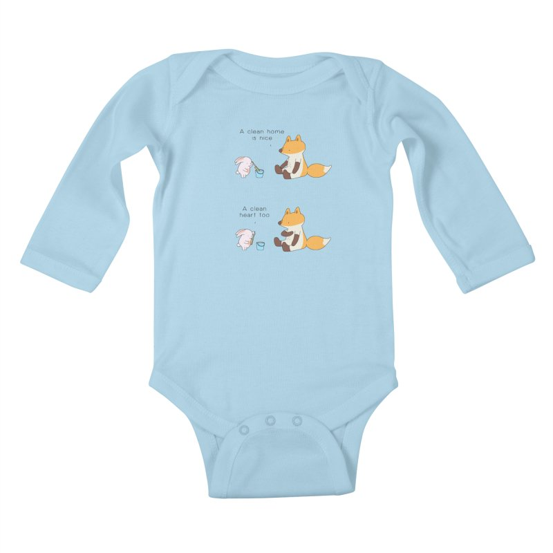 Keep it in the right place Kids Baby Longsleeve Bodysuit by Jangandfox's Artist Shop