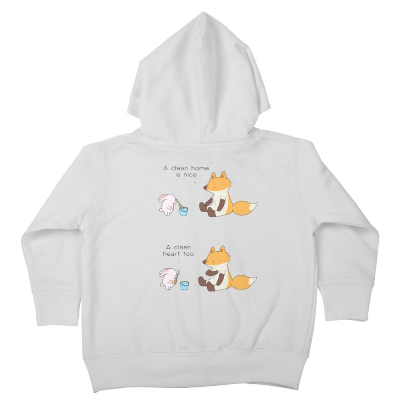 Keep it in the right place Kids Toddler Zip-Up Hoody by Jangandfox's Artist Shop