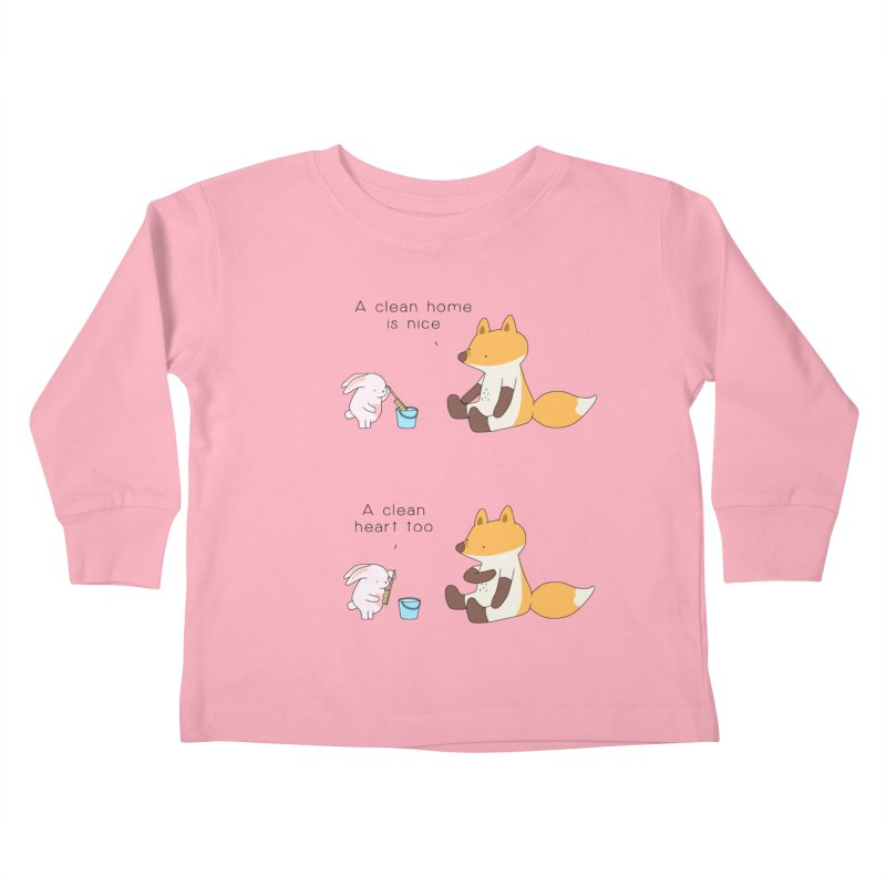 Keep it in the right place Kids Toddler Longsleeve T-Shirt by Jangandfox's Artist Shop
