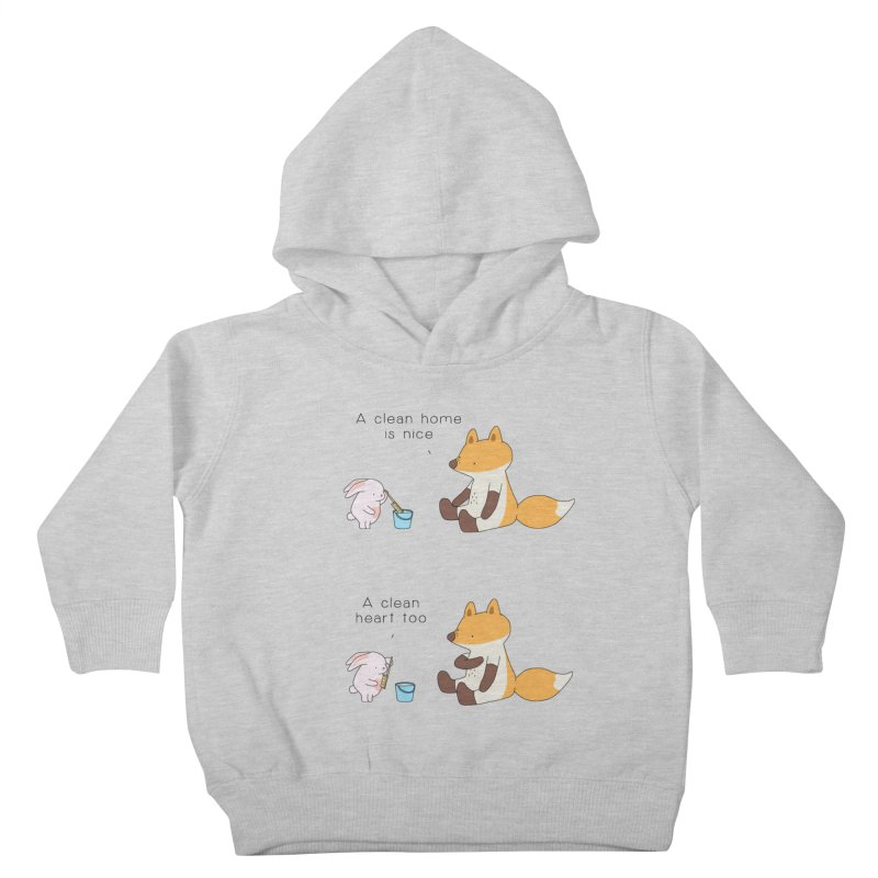 Keep it in the right place Kids Toddler Pullover Hoody by Jangandfox's Artist Shop