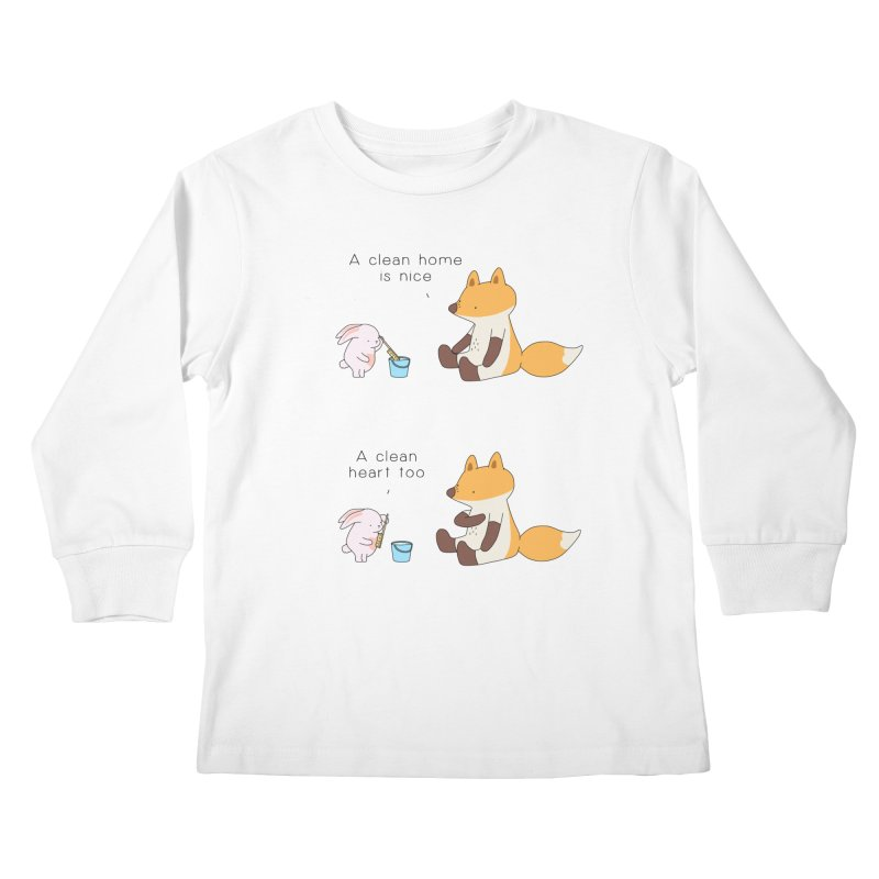 Keep it in the right place Kids Longsleeve T-Shirt by Jangandfox's Artist Shop