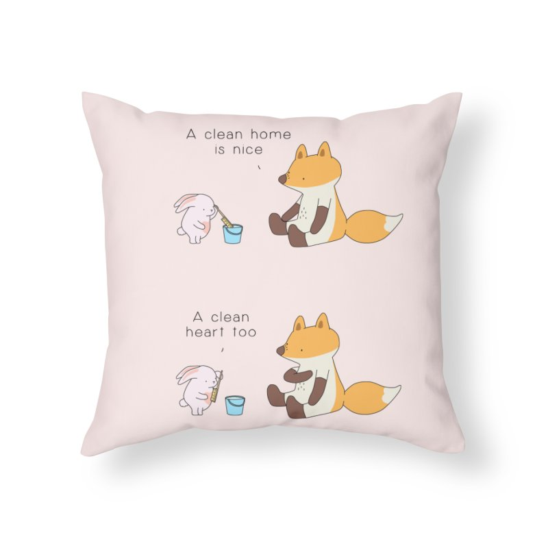 Keep it in the right place Home Throw Pillow by Jangandfox's Artist Shop