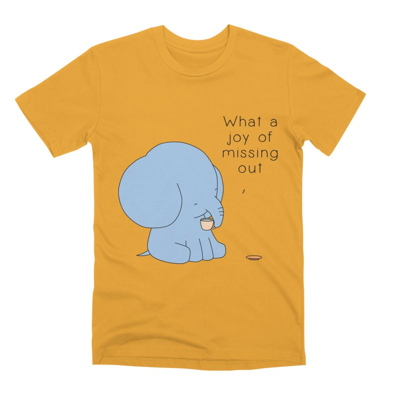 Joy of Missing Out Men's Premium T-Shirt by Jangandfox's Artist Shop