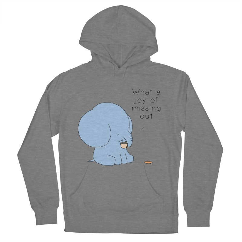 Joy of Missing Out Men's French Terry Pullover Hoody by Jangandfox's Artist Shop
