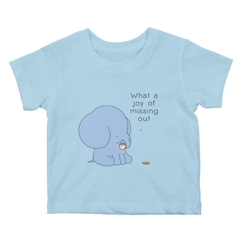 Joy of Missing Out Kids Baby T-Shirt by Jangandfox's Artist Shop