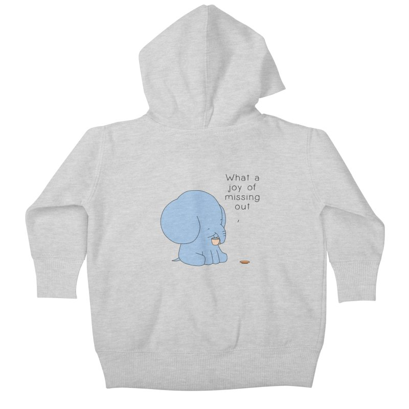 Joy of Missing Out Kids Baby Zip-Up Hoody by Jangandfox's Artist Shop