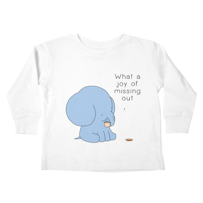 Joy of Missing Out Kids Toddler Longsleeve T-Shirt by Jangandfox's Artist Shop