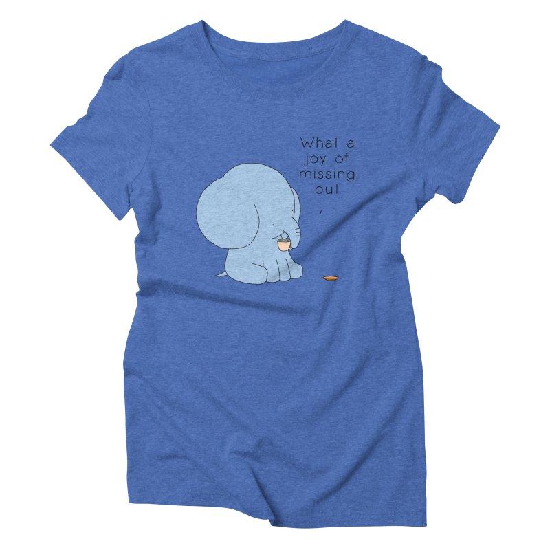 Joy of Missing Out Women's Triblend T-Shirt by Jangandfox's Artist Shop