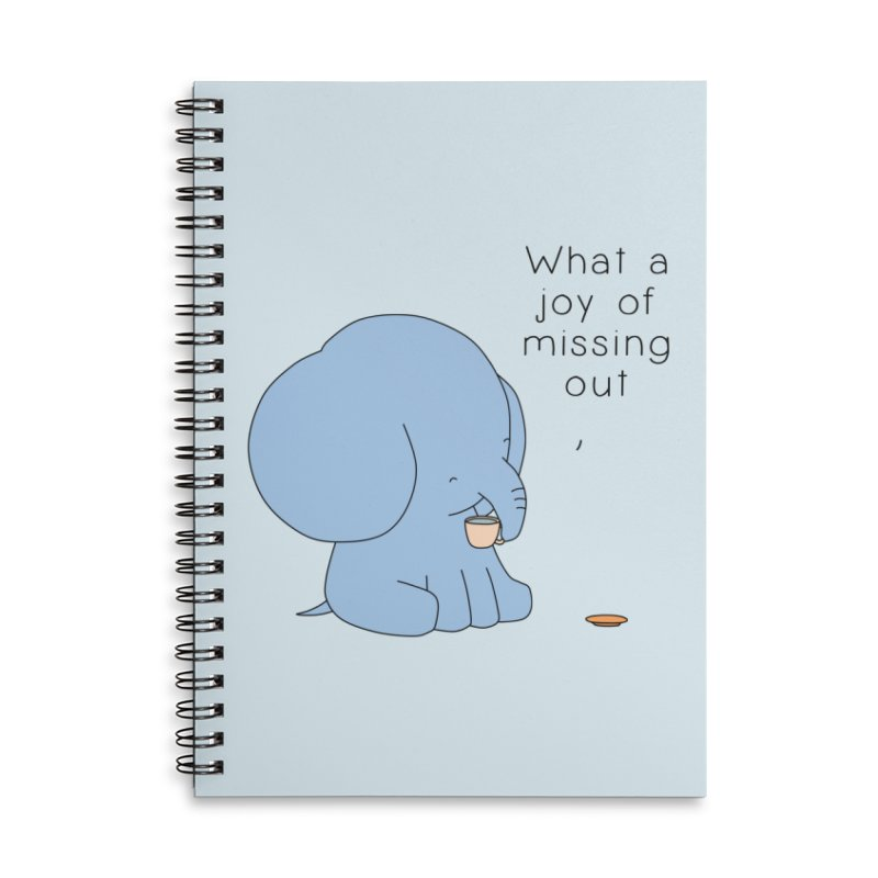 Joy of Missing Out Accessories Lined Spiral Notebook by Jangandfox's Artist Shop