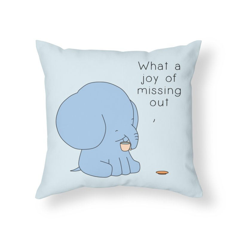 Joy of Missing Out Home Throw Pillow by Jangandfox's Artist Shop