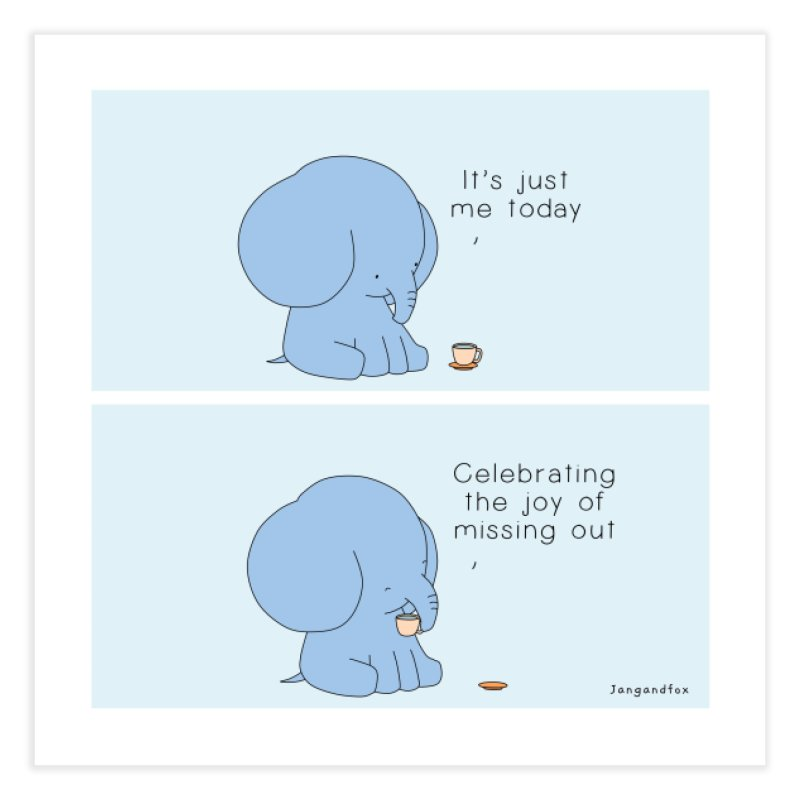 Joy of Missing Out Home Fine Art Print by Jangandfox's Artist Shop