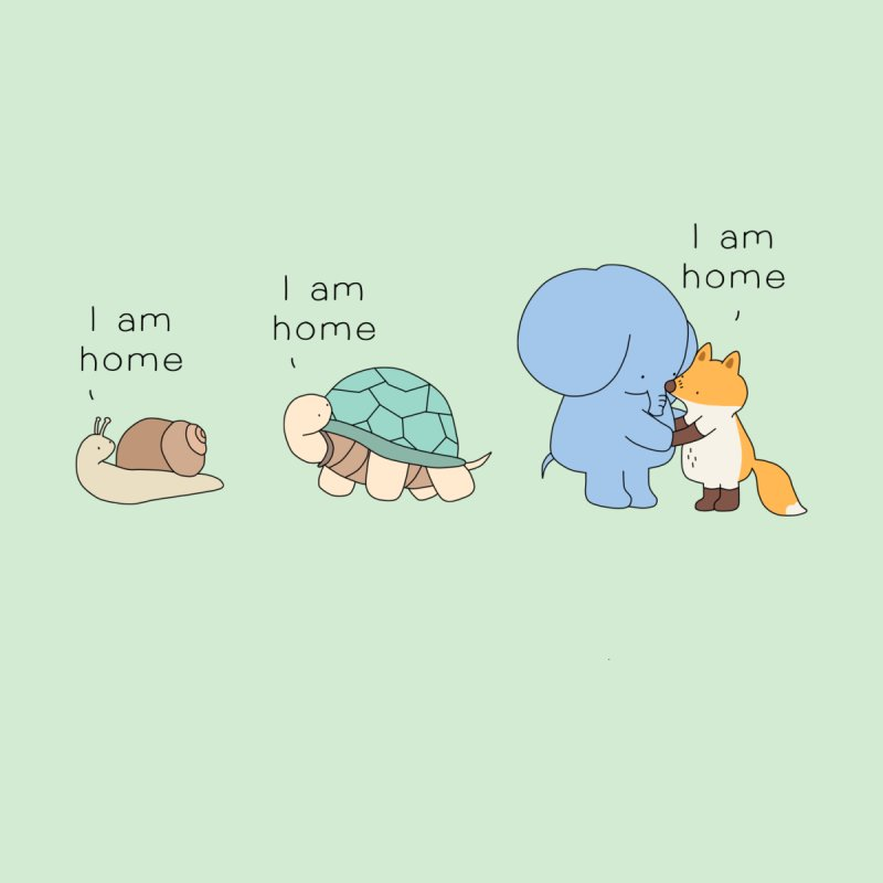 I am Home Men's T-Shirt by Jangandfox's Artist Shop