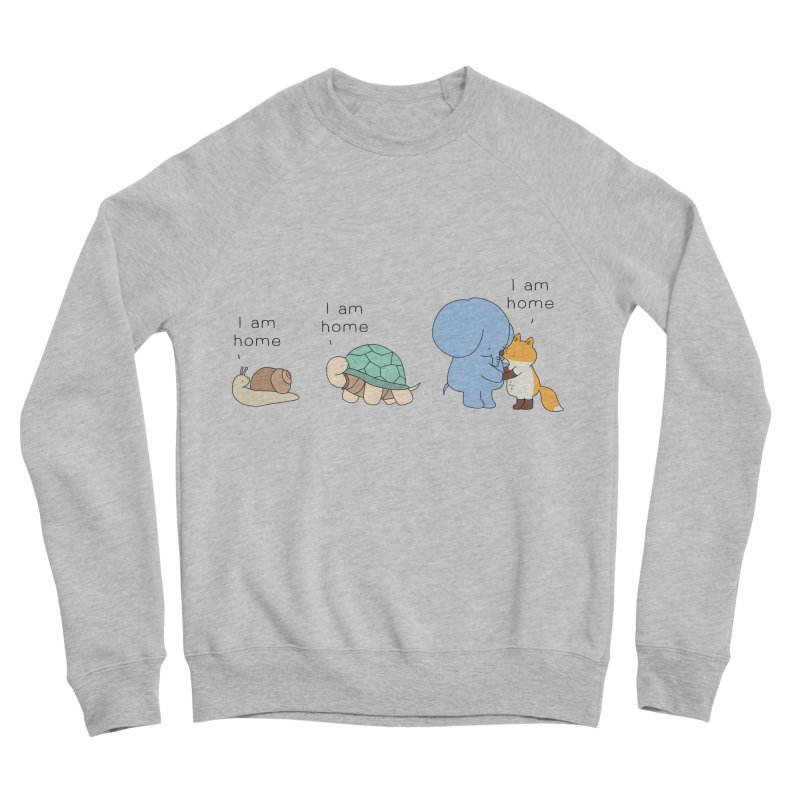 I am Home Men's Sponge Fleece Sweatshirt by Jangandfox's Artist Shop