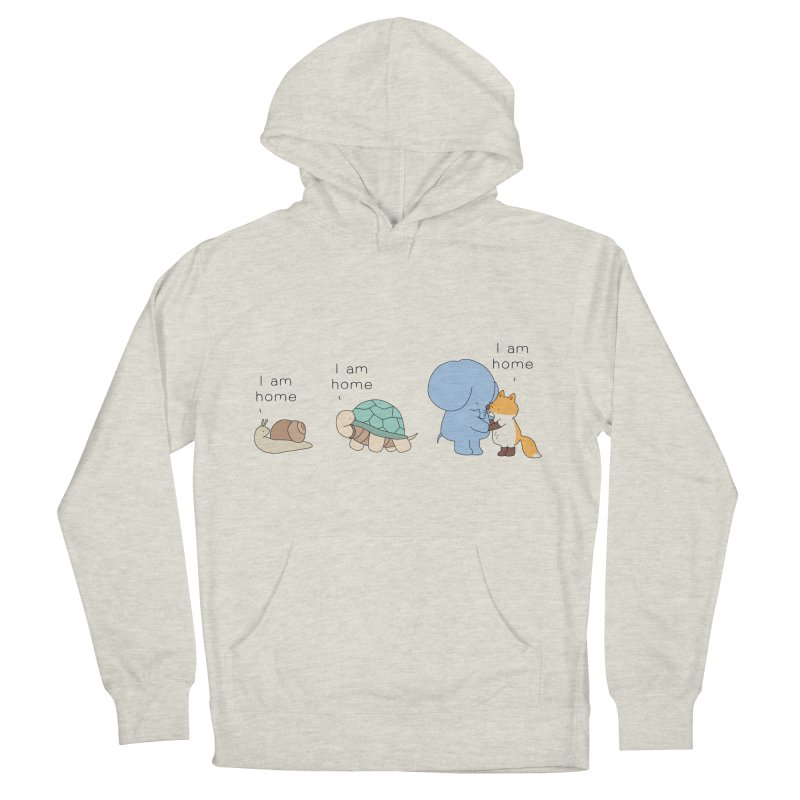 I am Home Men's French Terry Pullover Hoody by Jangandfox's Artist Shop
