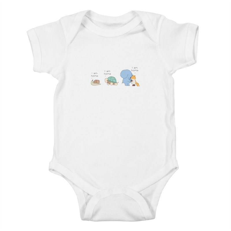 I am Home Kids Baby Bodysuit by Jangandfox's Artist Shop