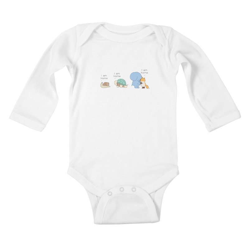 I am Home Kids Baby Longsleeve Bodysuit by Jangandfox's Artist Shop