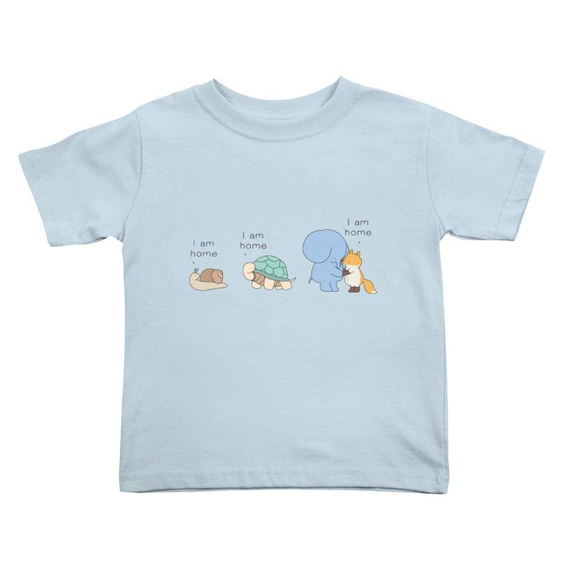 I am Home Kids Toddler T-Shirt by Jangandfox's Artist Shop