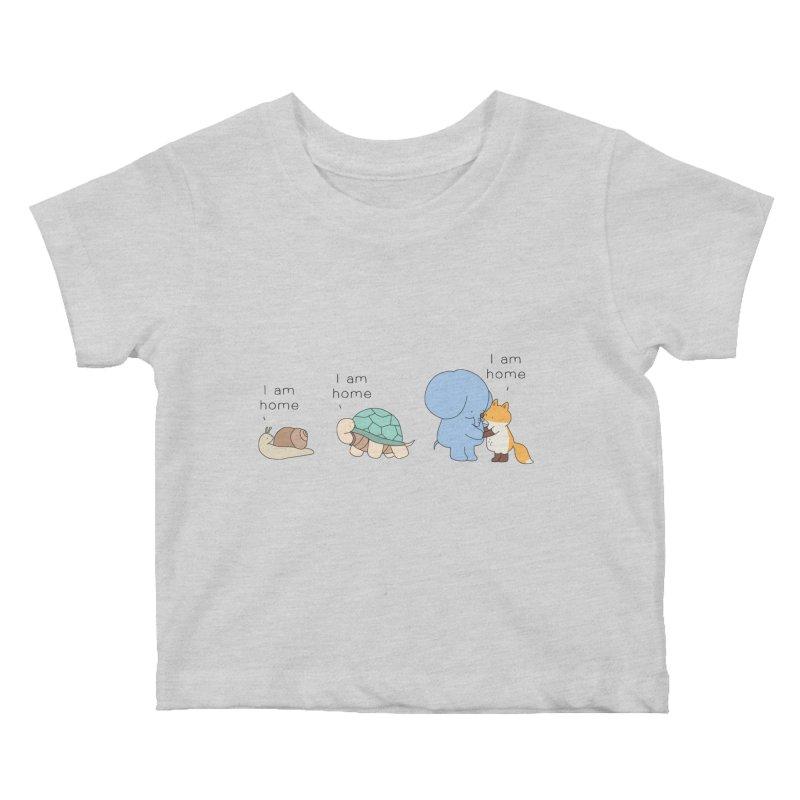 I am Home Kids Baby T-Shirt by Jangandfox's Artist Shop