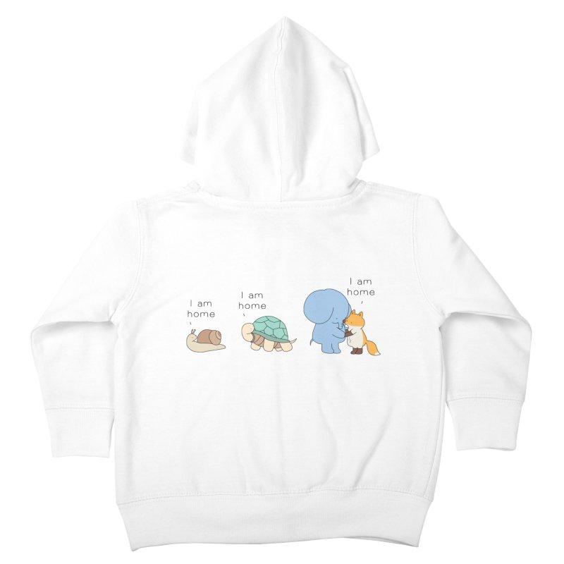 I am Home Kids Toddler Zip-Up Hoody by Jangandfox's Artist Shop