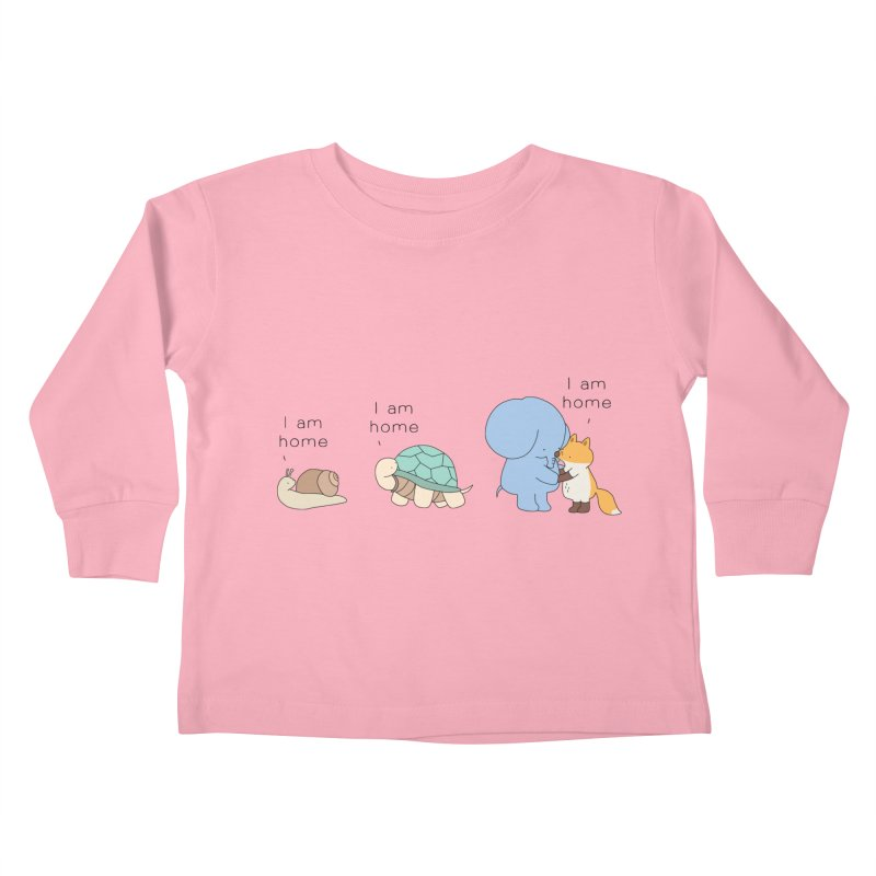 I am Home Kids Toddler Longsleeve T-Shirt by Jangandfox's Artist Shop