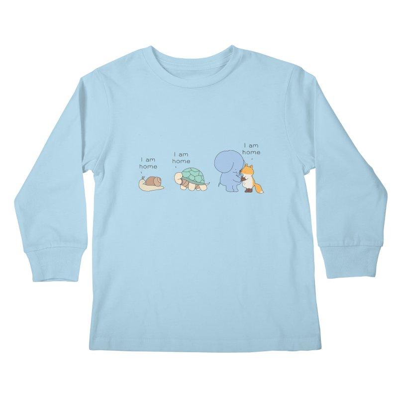 I am Home Kids Longsleeve T-Shirt by Jangandfox's Artist Shop