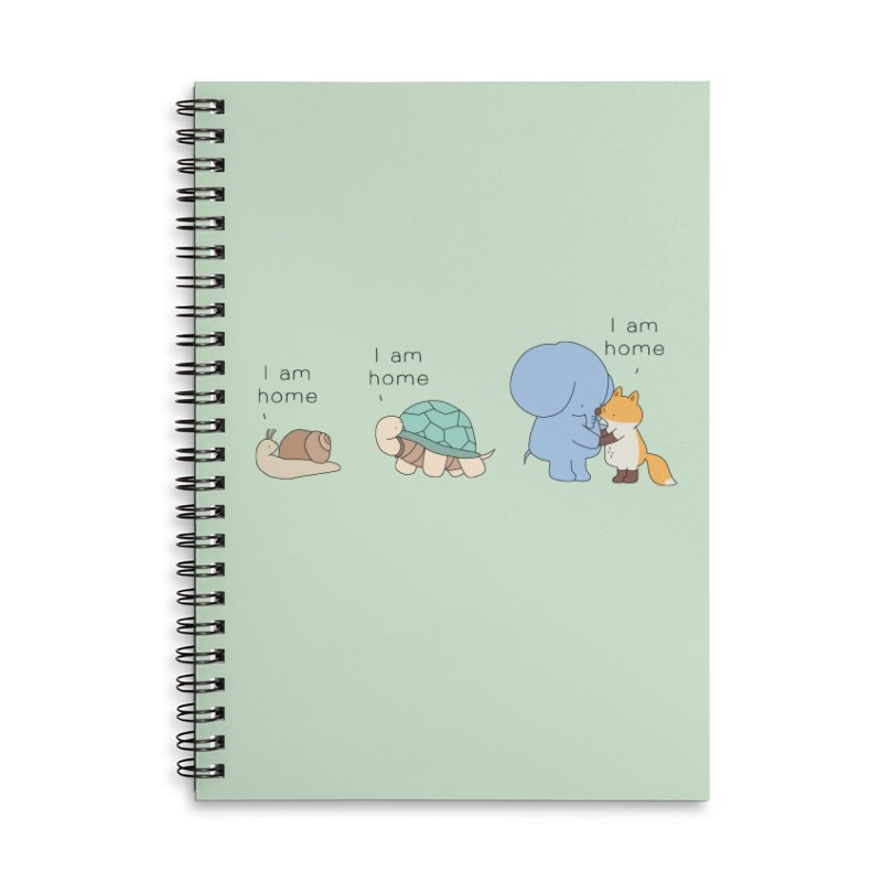 I am Home Accessories Lined Spiral Notebook by Jangandfox's Artist Shop