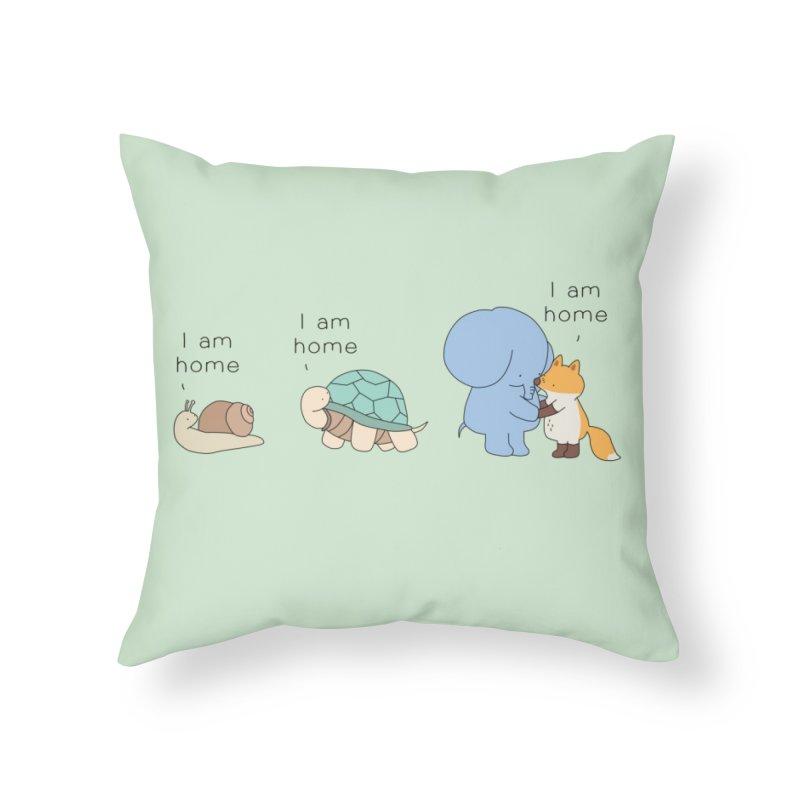 I am Home Home Throw Pillow by Jangandfox's Artist Shop