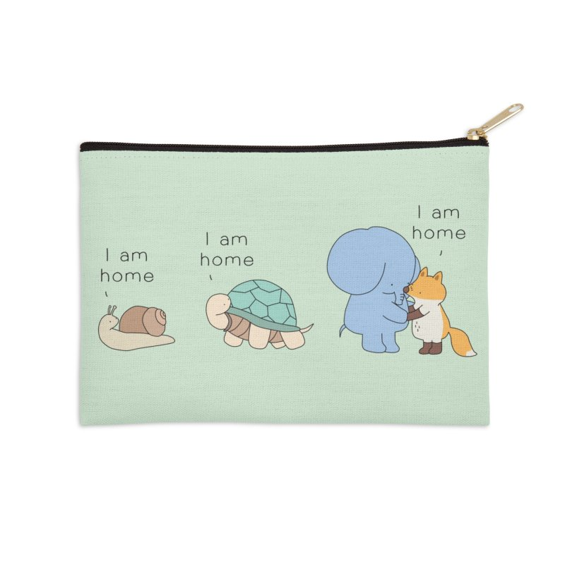 I am Home Accessories Zip Pouch by Jangandfox's Artist Shop