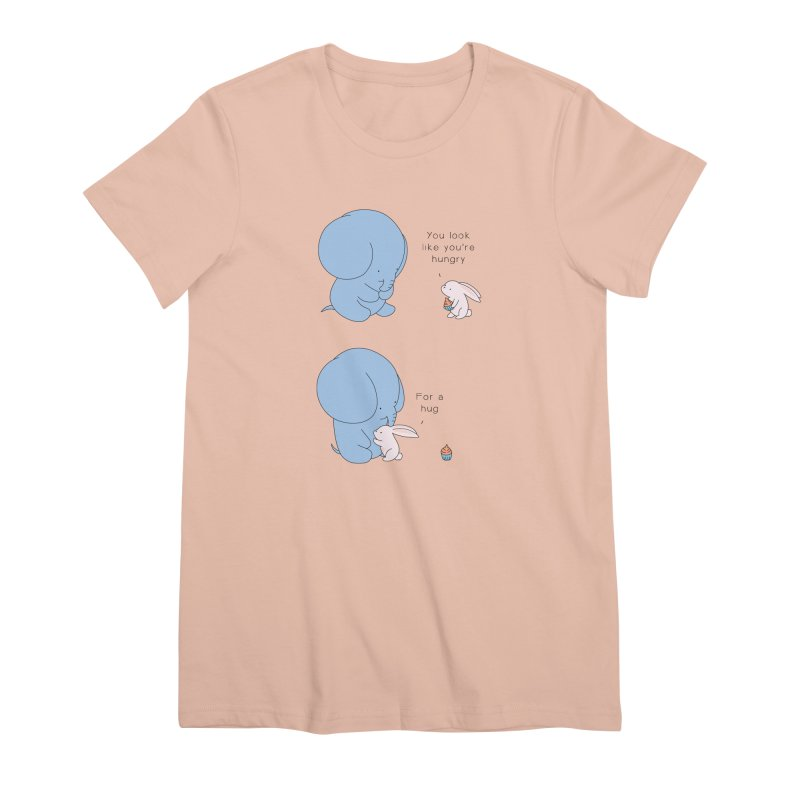 Are You Hug-hungry? Women's Premium T-Shirt by Jangandfox's Artist Shop