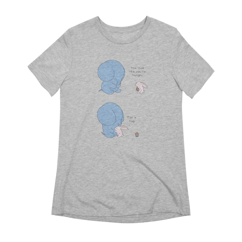 Are You Hug-hungry? Women's Extra Soft T-Shirt by Jangandfox's Artist Shop
