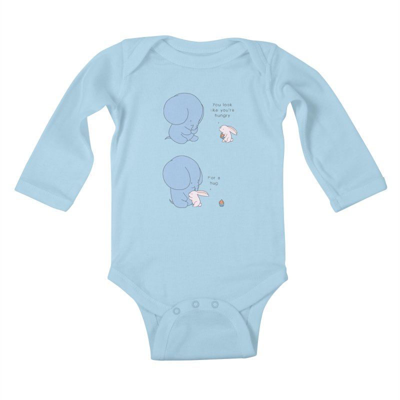 Are You Hug-hungry? Kids Baby Longsleeve Bodysuit by Jangandfox's Artist Shop