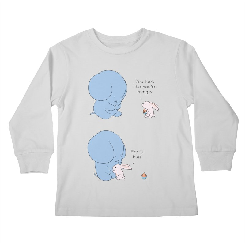 Are You Hug-hungry? Kids Longsleeve T-Shirt by Jangandfox's Artist Shop