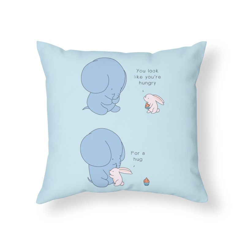 Are You Hug-hungry? Home Throw Pillow by Jangandfox's Artist Shop
