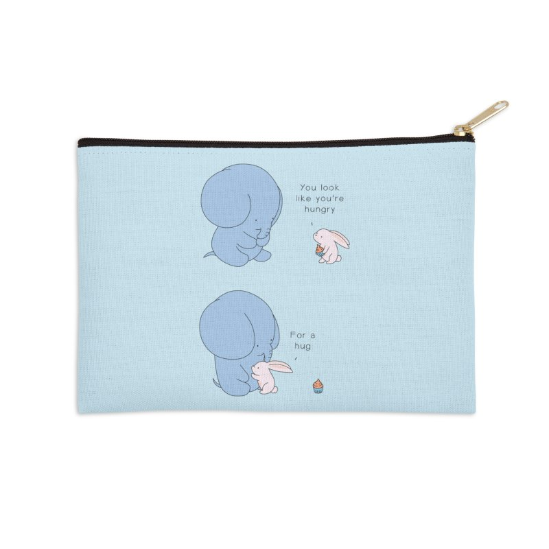 Are You Hug-hungry? Accessories Zip Pouch by Jangandfox's Artist Shop