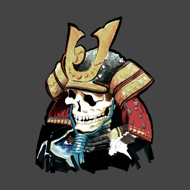 Samurai skull by Japan Frenzy - cool T-shirts about Japan!