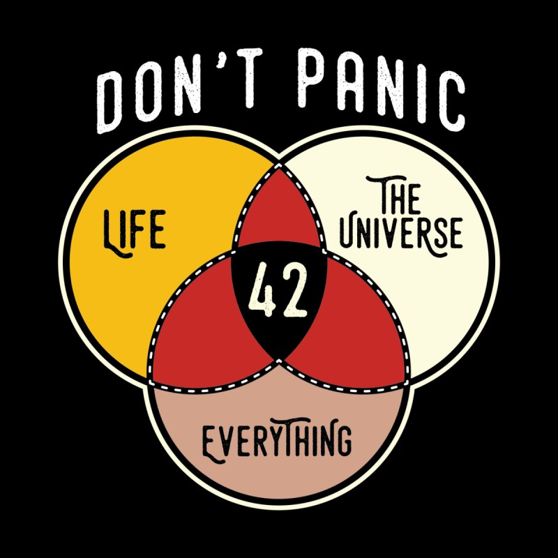42 The Answer to Life, Universe, and Everything Men's T-Shirt by The Tee Supply Co