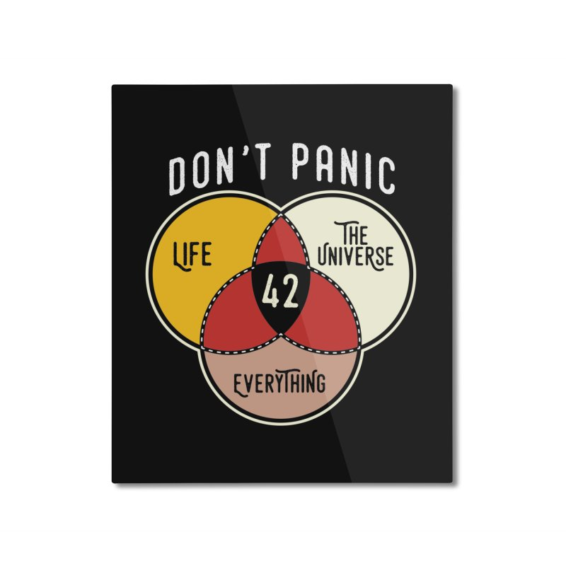 42 The Answer to Life, Universe, and Everything Home Mounted Aluminum Print by The Tee Supply Co