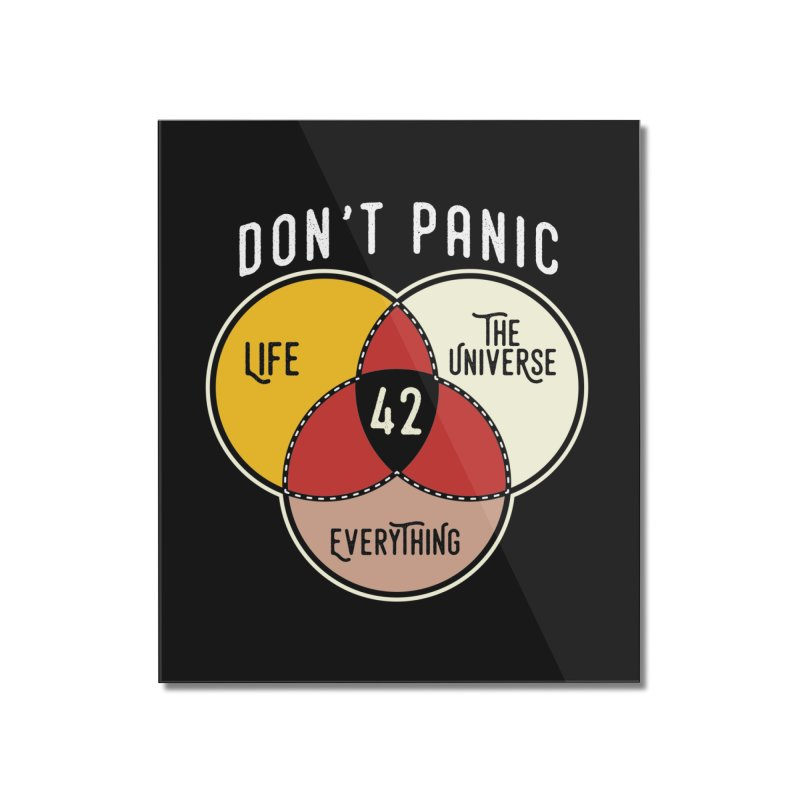 42 The Answer to Life, Universe, and Everything Home Mounted Acrylic Print by The Tee Supply Co