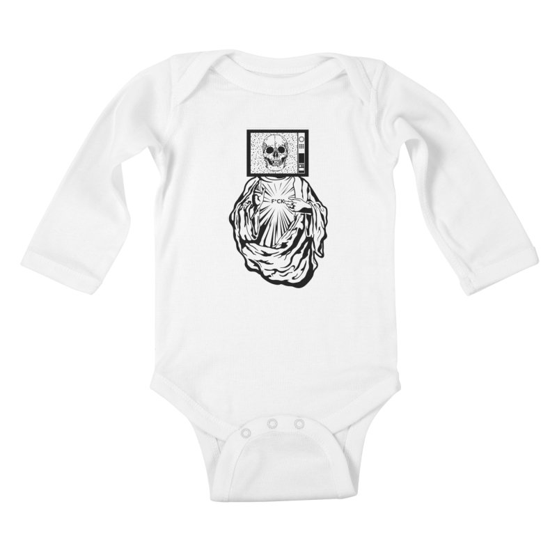 Media Messiah Kids Baby Longsleeve Bodysuit by japdua's Artist Shop