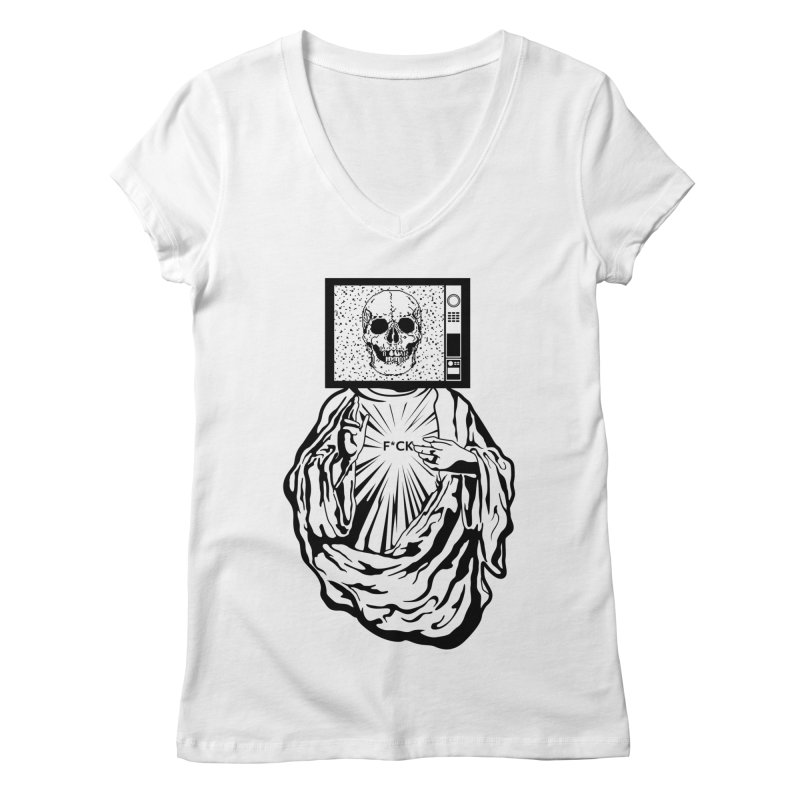Media Messiah Women's V-Neck by japdua's Artist Shop