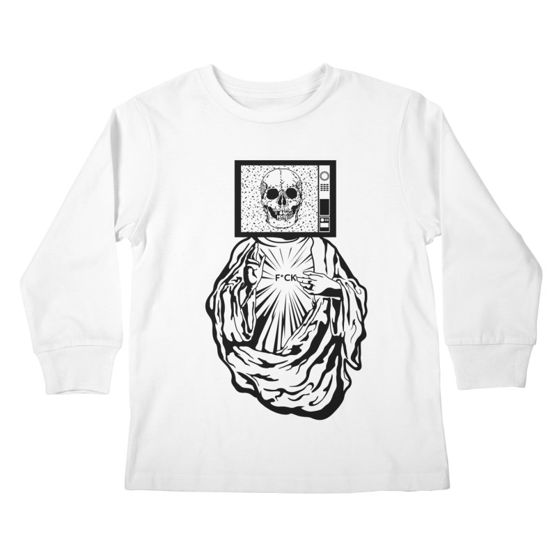 Media Messiah Kids Longsleeve T-Shirt by japdua's Artist Shop