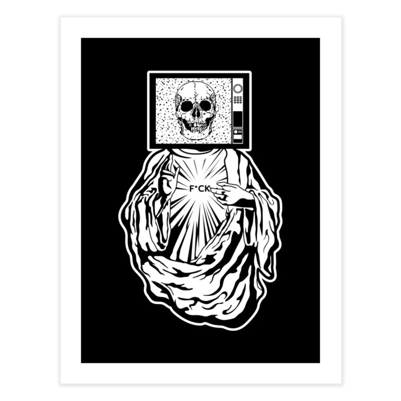 Media Messiah Home Fine Art Print by japdua's Artist Shop